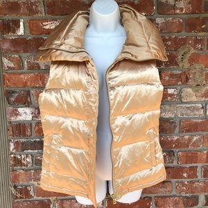 Talbots gold puffer vest size medium
